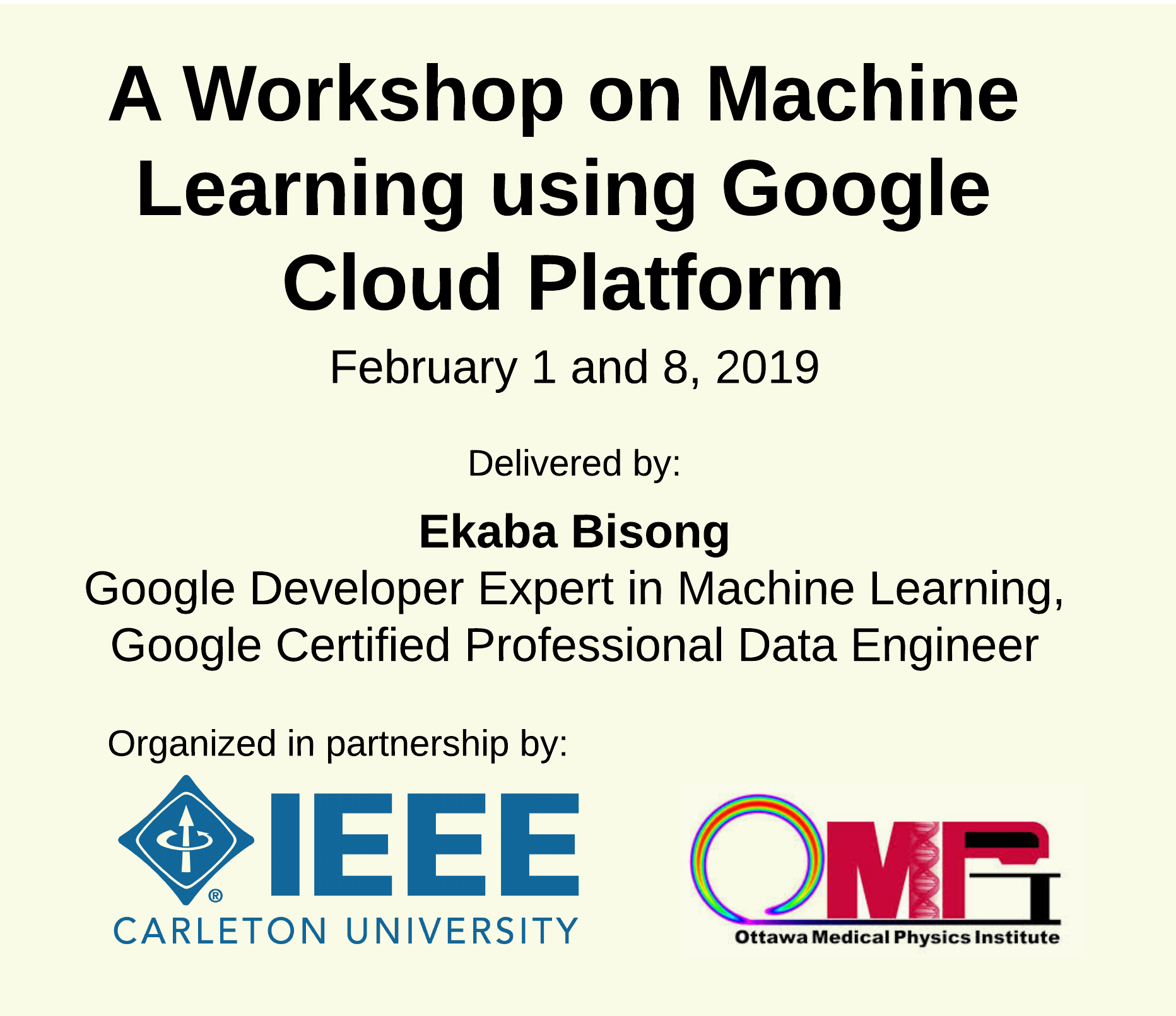 IEEE Carleton and OMPI Machine Learning Workshop
